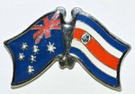 Friendship Pin Costa Rica, Australia, Twin Pin