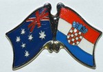 Twin Pin Australia/Croatia, Double Pin,Friendship Pin, Crossed Flag Pin