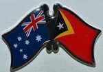 Crossed Flag Pin Australia/East Timor Double Pin, Australia/Timor Lesthe,