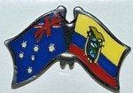 Twin Pin Australia/Ecuador, Double Pin, Friendship Pin Australia/Ecuador,