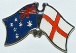 Twin Pin Australia/England Crossed Pin, Double Pin