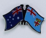 Twin Pin Australia/Fiji, Crossed Pin, Friendship Pin australia/Fiji