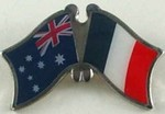 Twin Pin Asutralia/France, Crossed Pin Australia/France