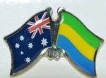 Australia/Gabon Crossed Flag Pin, Friendship Pin, double Pin, anstecknadel, Love both country flag badge,