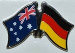 Twin Pin Australia/Germany Crossed Flag Pin