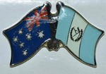 Twin Pin Australia/Guatemala, Crossed Flag Pin