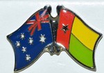 Australia/Guinea Bissau Crossed Flag Pin