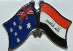 Twin Pin Asutralia/Iraq, Crossed Flag Pin, Double Flag Pin australia/Iraq