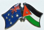 Australia Jordan Fridnship Pin, Crossed Flag Pin, Double Pin, Flag Badge