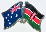 Twin Pin Australia/Kenya, Crossed Flag Pin