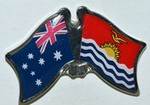 Twin Pin Australia/Kiribati, Crossed Flag Pin