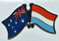 Australia/Luxembourg Crossed Pin, Double Pin Australia/Luxembourg
