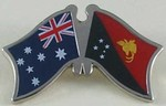 Crossed Flag Pin Australia/Papua New Guinea