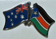 Australia South sudan Friendship Pin