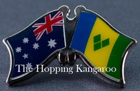 Crossed flag  Australia/St Vincent and The Grenadines, Friendship Pin,