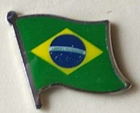 Brasil Flag badge ,Flag Lapel Pin Brazil