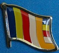 Buddhist Flag Pin, Novelty Pin, Flag Badge, collect pins, Hat Pin, Anstecknadel,