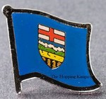 Alberta Pin Canda Province, Flag badge alberta,