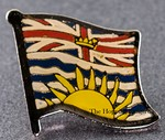 British Columbia Flag Pin, Flag badge Colombia,