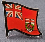 Manitoba Pin. flag Badge Manitoba, Canada Provincial Flag