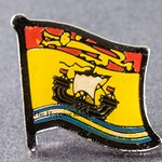 New Brunswick Flag Pin. Flag badge New Brunswick, Canada Provincial Flag Pin,