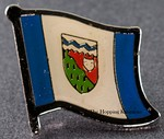 Northwest Territories Pin, Flag BadgeNortwest Territory.  Canada Provincial