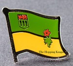Saskatchewan Pin, Canada Provincal Flag Pin, Flag Badge,