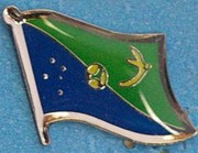 Christmas Island Flag lapel pin,  flag badge