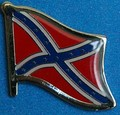 Confederate Historical Flag OPin, USA Rebel flag Pin, Hat Pin, Anstecknadel, Flag Badge,