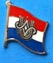 Croatia Youth Movement Historical Flag Pin, Blag Badge, Lapel Pin, hat Pin, anstecknadel,