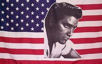Elvis on USA flag, Elvis flag,