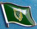 Erin Go Bragh Flag Pin, Flag Badge Historical. Hat Pin, anstecknadel. Lapel Pin,