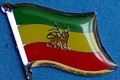 Ethiopia with Lion Historical Flag Badge, Lapel Pin to wear in your lapel, collect all Historical flag pins, Anstecknadel,