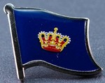 Fehmarn Flag Badge, Lapel Pin, Hat Pin, anstecknadel, Historical Pin, collect all pins,