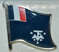 French Antarctic Pin, Flag Badge, Lapel Pin Tipperary