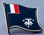 French Antarctic Flag Badge, Lapel Pin, wear flag oin in your Lapel, hat pin, Anstecknadel,