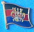 Friesland East Flag Pin, Lapel Pin, Flag Badge East Friesland, Anstecknadel, hat Pin, Fun Pin,