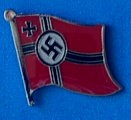 German World War Two Flag Badge, Lapel Pin, learn from History to understand the present,