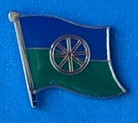 Gypsi Flag Pin, Sinti and Roma Flag Badge fun pin, travellers pin, Nomade Pin,