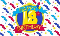 Happy 18th Birthday, Novelty flag, Fun flag, Message Flag