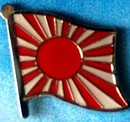 Japan Rising Sun Flag Pin, Lapel Pin, Flag Badge, Historical flag pin, Anstecknadel,