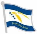 Johnston Atoll Flag Pin, Flag Badge, anstecknadel, Novelty Flag Pin