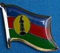 Kanak Flag Badge, new flag for Kanak People New Caledonia, Flag Badge, Hat Pin, anstecknadel,