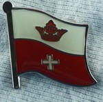 Koenigsberg untill 1945, historical flag badge, collect flag pins, swop meetings, school project, anstecknadel, Hat pin,