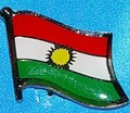 Kurdistan Flag badge, Kurdish lapel pin, Novelty Pin, collectable flag pin, Hat Pin, anstecknadel,