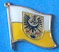 Lower Silesia Flag Badge, Lapel Pin, Hat Pin, Anstecknadel, Historical Flag badge,