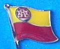 Memel Flag Lapel Pin, collect all historical flag badge of old Europoe, learn history with flag pins, Anstecknadel,