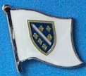 Bosnia Previous Flag Pin, Historical Flag Badge