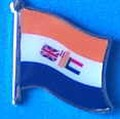 Old South Africa Flag Badge, Lapel Pin, Historical flag badge of South Africa,