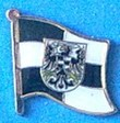 Posen flag Badge, wear in your hat, start conversation with your great collection of flag pins, historical and novelty pins,